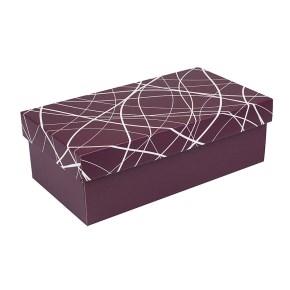 Darčeková krabička s vekom 310x160x100/35 mm, vínová so vzorom na veku