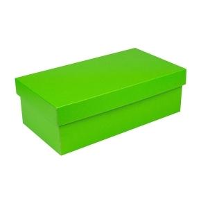 Darčeková krabička s vekom 310x160x100/35 mm, zelená matná