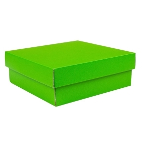 Darčeková krabička VEKO + DNO 200x200x100 / 40, zelená matná