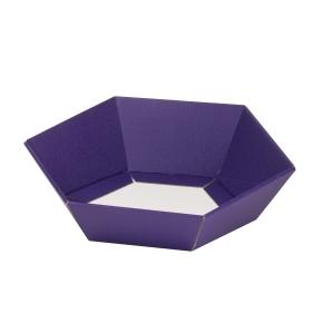 Darčekový kôš šesťhranný 190x220x60-90 mm, fialový