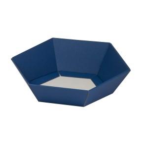 Darčekový kôš šesťhranný 190x220x60-90 mm, modrý