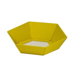 Darčekový kôš šesťhranný 190x220x60-90 mm, žltý