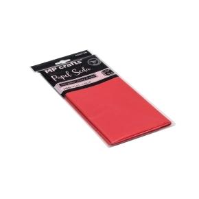 Hodvábny baliaci papier 500 x 660 mm, červený, 10 hárkov