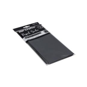 Hodvábny baliaci papier 500 x 660 mm, čierny, 10 hárkov