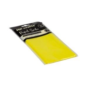 Hodvábny baliaci papier 500 x 660 mm, citrónovo žltý, 10 hárkov
