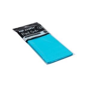 Hodvábny baliaci papier 500 x 660 mm, svetlo modrý, 10 hárkov