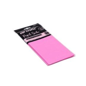 Hodvábny baliaci papier 500 x 660 mm, svetlo ružový, 10 hárkov