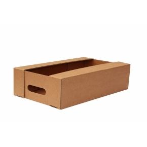 Kartónová prepravka 400x250x100, krytie na dlhších stranách, 3VVL