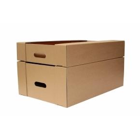 Kartónová prepravka 400x250x200, krytie na dlhších stranách, 3VVL