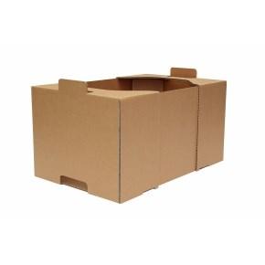 Kartónová prepravka 400x250x200, krytie na kratších stranách, 3VVL