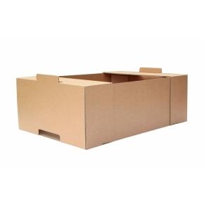 Kartónová prepravka 600x400x200, krytie na kratších stranách, 3VVL