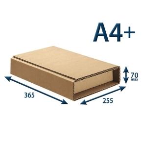 Kartonový obal pre knihy 365x255x max.70, A4+, 3VVL