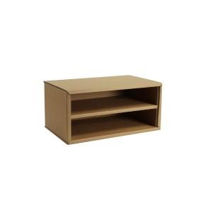 Kartónový regál/zakladač na stôl, malý, hnedý