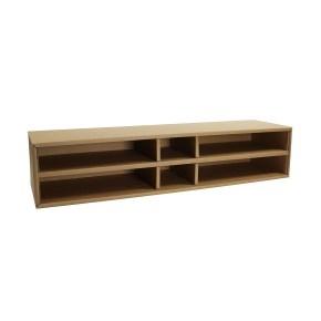Kartónový regál/zakladač na stôl, veľký, hnedý