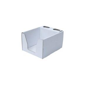 Kartónový stojan na ceruzky a blok 105x105x80 mm, biely