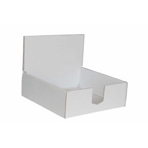 Kartónový stojan na prospekty 145x145x50 mm, biely