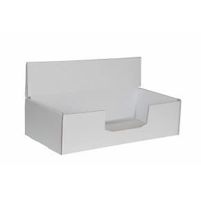 Kartónový stojan na prospekty 220x110x60 mm, biely pre formát 1/3 A4