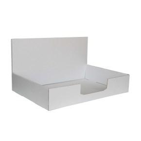 Kartónový stojan na prospekty 220x160x60 mm, biely pre formát A5