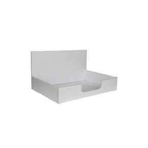 Kartónový stojan na prospekty 310x220x60 mm, biely pro formát A4