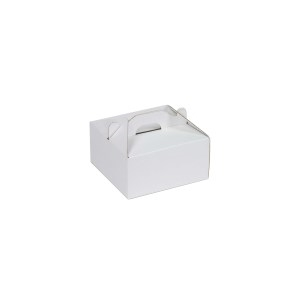 Krabica 100 x 100 x 50 na potraviny, výslužky, cukrovinky, bielo-biela