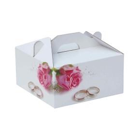 Krabica 100 x 100 x 50 na potraviny, výslužky, cukrovinky, dekor 150014