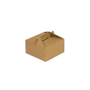 Krabica 100 x 100 x 50 na potraviny, výslužky, cukrovinky, hnedá - kraft