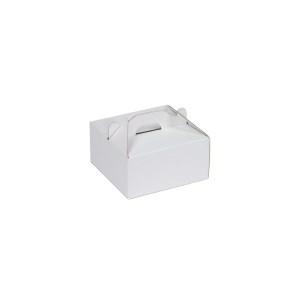 Krabica 120x120x60 mm na potraviny, výslužky, cukrovinky, biela