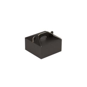 Krabica 120x120x60 mm na potraviny, výslužky, cukrovinky, čierna