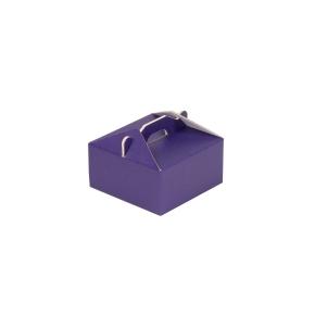 Krabica 120x120x60 mm na potraviny, výslužky, cukrovinky, fialová