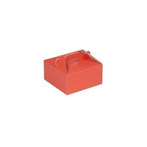 Krabica 120x120x60 mm na potraviny, výslužky, cukrovinky, koralová