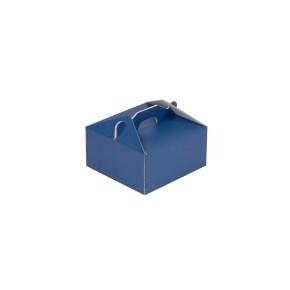 Krabica 120x120x60 mm na potraviny, výslužky, cukrovinky, modrá