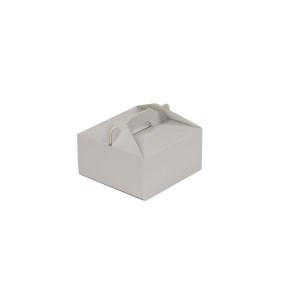 Krabica 120x120x60 mm na potraviny, výslužky, cukrovinky, sivá