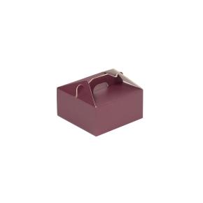 Krabica 120x120x60 mm na potraviny, výslužky, cukrovinky, vínová