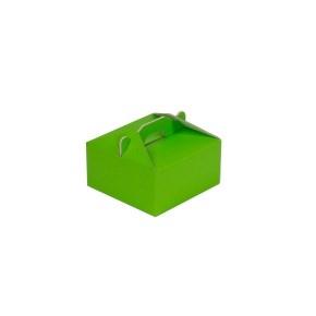 Krabica 120x120x60 mm na potraviny, výslužky, cukrovinky, zelená