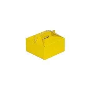Krabica 120x120x60 mm na potraviny, výslužky, cukrovinky, žltá