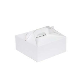 Krabica 160 x 160 x 80 na potraviny, výslužky, cukrovinky, bielo-biela