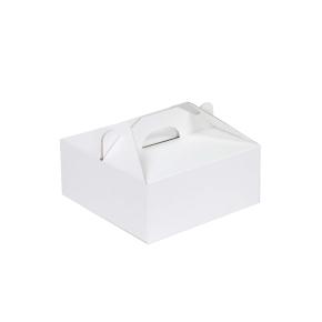 Krabica 190x190x80 mm na potraviny, výslužky, cukrovinky, biela