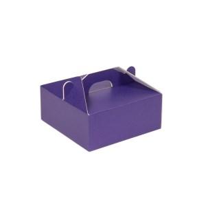 Krabica 190x190x80 mm na potraviny, výslužky, cukrovinky, fialová