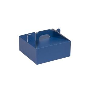 Krabica 190x190x80 mm na potraviny, výslužky, cukrovinky, modrá