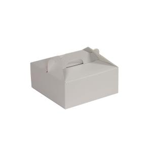 Krabica 190x190x80 mm na potraviny, výslužky, cukrovinky, sivá
