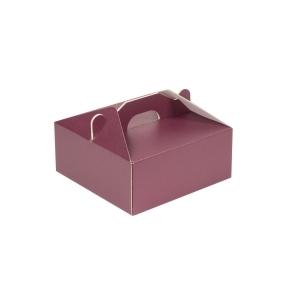 Krabica 190x190x80 mm na potraviny, výslužky, cukrovinky, vínová