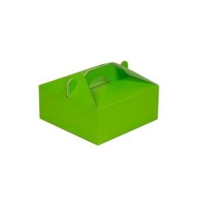 Krabica 190x190x80 mm na potraviny, výslužky, cukrovinky, zelená