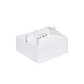 Krabica 200 x 200 x 80 na potraviny, výslužky, cukrovinky, bielo - biela