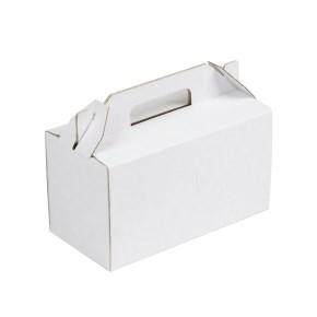 Krabica 200x100x110 mm na potraviny, výslužky, cukrovinky, biela