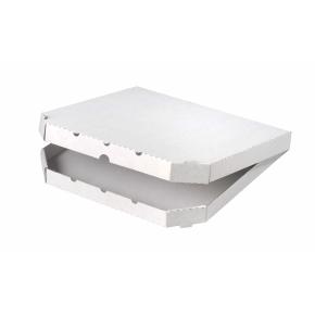 Krabica na pizzu 320x320x30mm, bez potlače, vysekávaná
