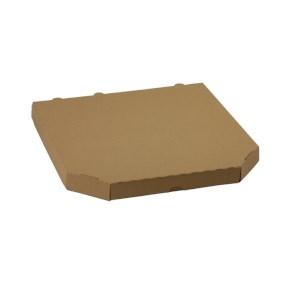 Krabica na pizzu 330x330x30mm, bez potlače, hnedá