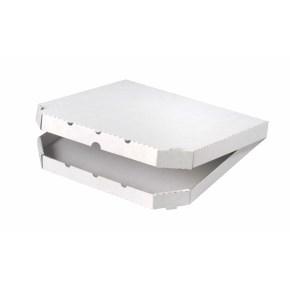 Krabica na pizzu 350x350x30mm, bez potlače, vysekávaná