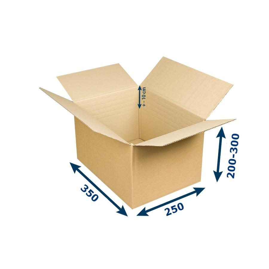 2483a38a0 Krabica na tlačoviny A4 350x250x200-300 mm 3VVL | paketo.sk