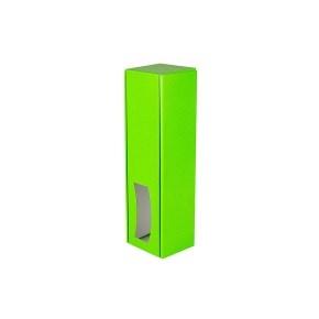 Krabica na víno 85x333x85 mm, zelená matná