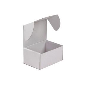 Krabica z trojvrstvového kartónu 148x105x74 mm, minikrabička, bielo-biela